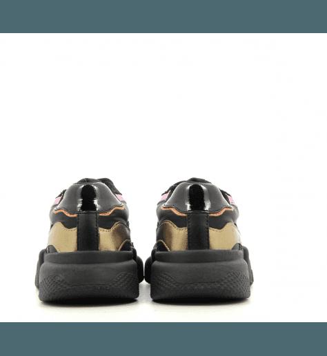 Sneakers à semelle débordante OREGON BLACK - Serafini