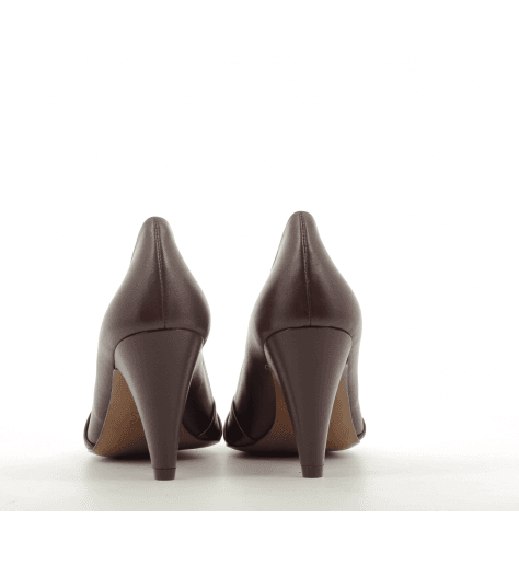 Escarpins à talon en cuir bordeau EDINAB - New Lovers shoes