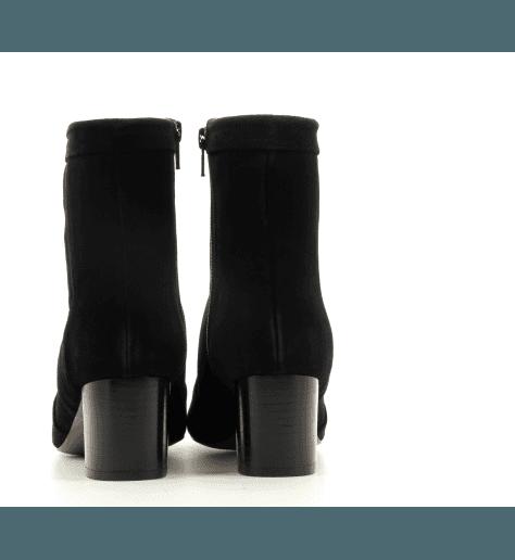 Escarpin à talon en veau velour noir et flamme glitter DAGMAR1 - New Lovers shoes