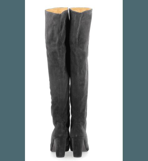 Bottes en veau velours gris à talons hauts ENJI1 - Chie Mihara