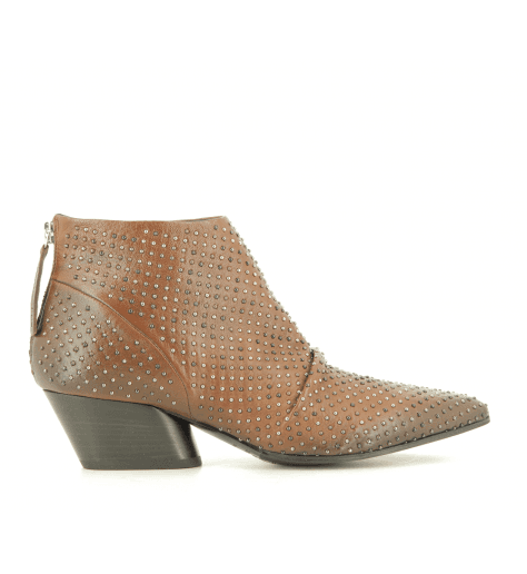 Bottines  en cuir marron  JULIEN03  - Halmanera