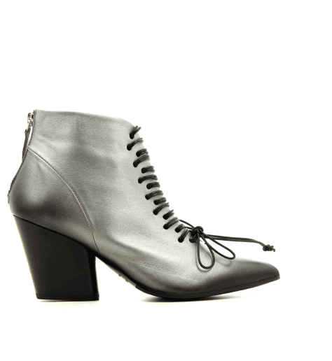 Bottines en cuir anthracite  ROUGE32  - Halmanera