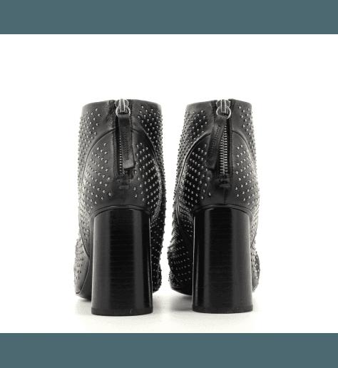 Bottines en cuir noir  GIOVI11N - Halmanera