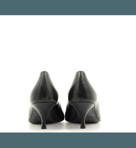 Escarpins à talons en cuir noir 5223N- Fauzian Jeunesse