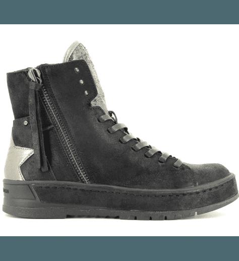 Sneakers en cuir noir  HACKNEY 25410 - Crime London
