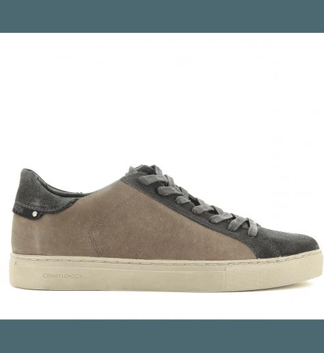 32477164c4a Sneakers homme en cuir marron BEAT 11318 - Crime London - Garrice
