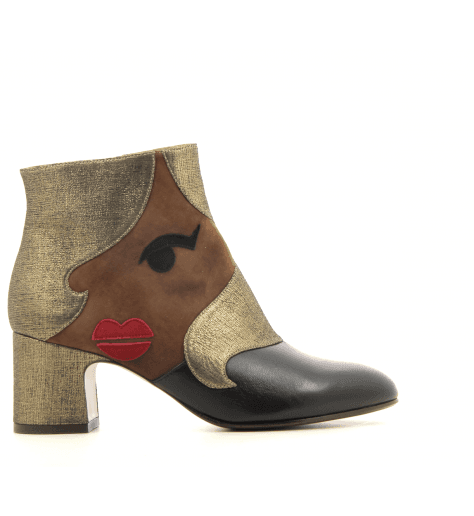 Bottines en veau velours multicolore  NALA1 - Chie Mihara