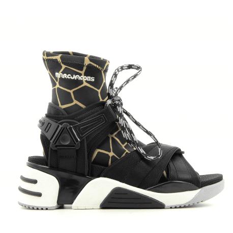 Sandales en textile noir  - Marc Jacobs