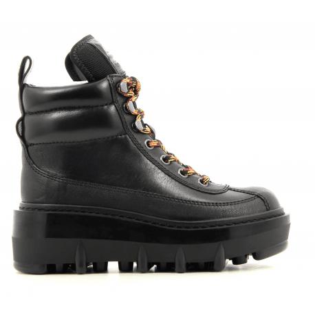 Boots en cuir noir SHAY WEDGE HIKING BOOT - Marc Jacobs