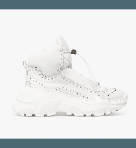Sneakers blanches à semelles débordantes 5240 - Garrice Collection