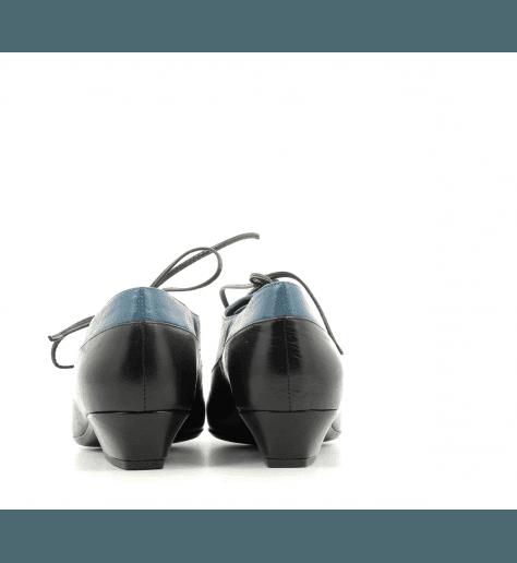 Derbies à petit talon en cuir noir et bleu Marc Jacobs - COLOR BLOCK OXFORD