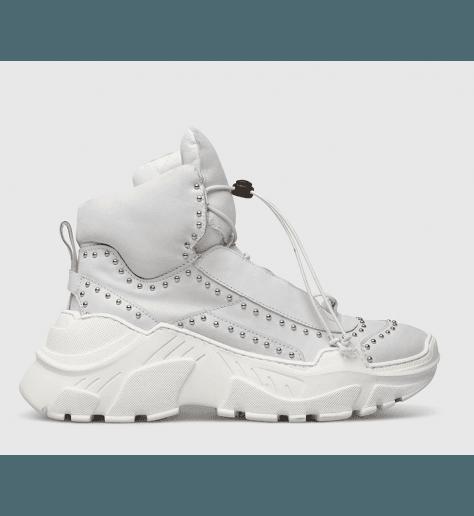 Sneakers blanches à semelles débordantes fruit now 5240 - Garrice Collection