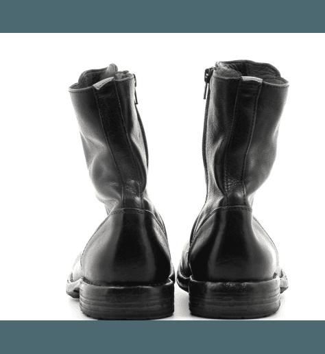 Bottines plate style rangers noir Moma pour hommes - 53807