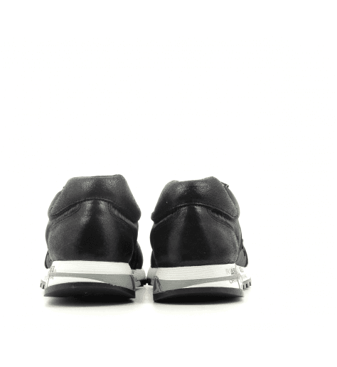Baskets en cuir et toile brillante noir PREMIATA - LUCY 3304
