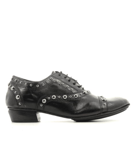 Derbies souples en cuir noir 823107- Garrice Collection