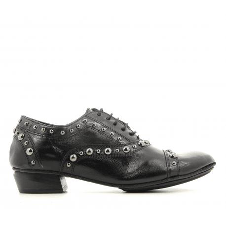 Derbies souples en cuir noir 823107- Garrice Collection
