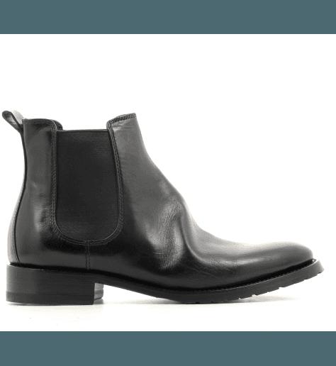 Bottine plates en cuir noir Henderson shoes - 22D01