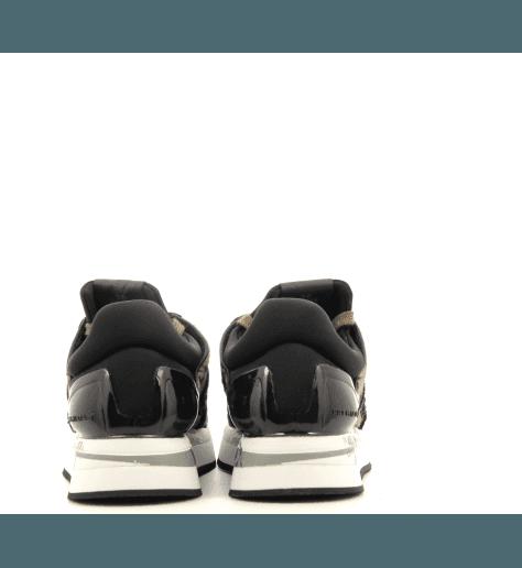 Baskets en poulain noir et léopard à semelles épaisses PREMIATA - LIZ 3459