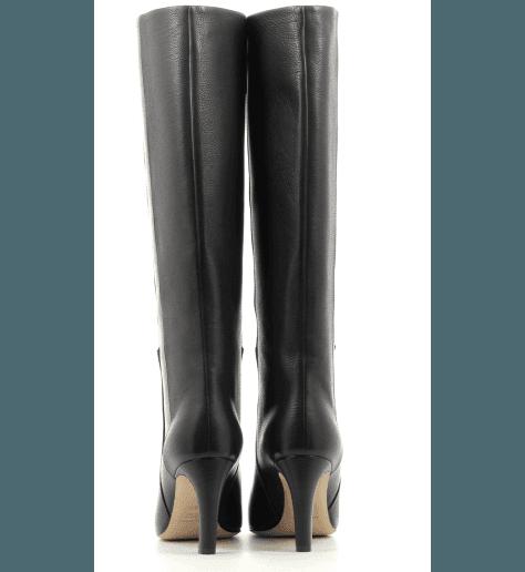 Botte en cuir noir à talon Pellico - 9597