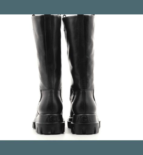 Bottes en cuir noir  D756508 - AGL