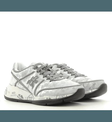 Baskets en velours gris à semelles épaisses PREMIATA - LIU 3499