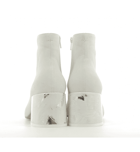 Bottines blanches à talons fort  S40WU0177/T1005 - MM6 Martin Margiela