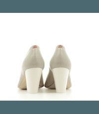 Escarpins pointus en cuir gris perle Halmanera - ROSE07G