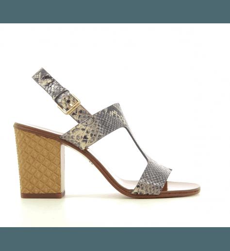 Sandales à talons structurés en cuir façon serpent Chie Mihara - HEIN