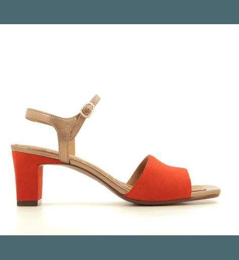 Sandales à petits talons corail Chie Mihara - LORA