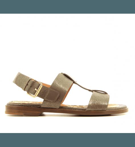 Sandales plates en cuir bronze Chie Mihara - WASY
