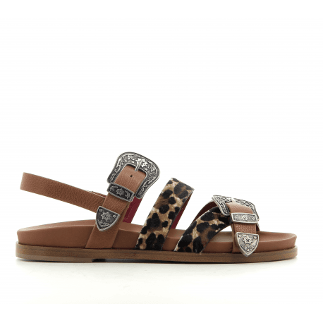 Sandales en cuir camel BOGO-254MLO  - Alberto Gozzi