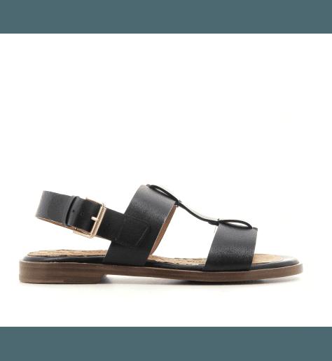 Sandales plates en cuir noir Chie Mihara - WASY