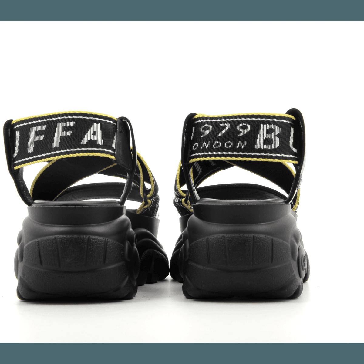 Sandales à semelles épaisses noires Buffalo London - BO BLACK