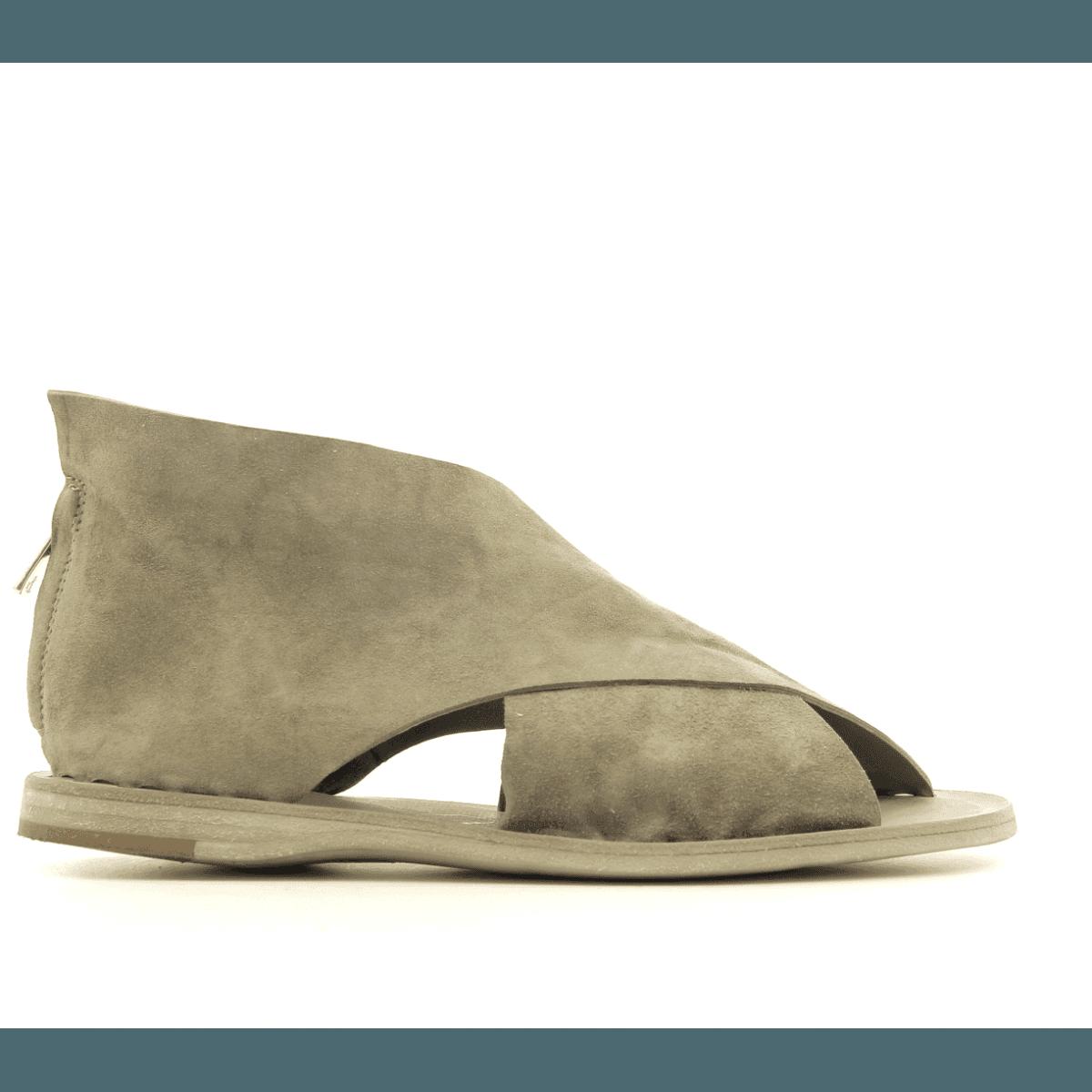 Sandales en veau velours taupe kaki Officine Creative - ITACA 006 KAKI