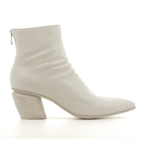 Bottines en cuir gris perle Officine Creative - SEVERINE 008G