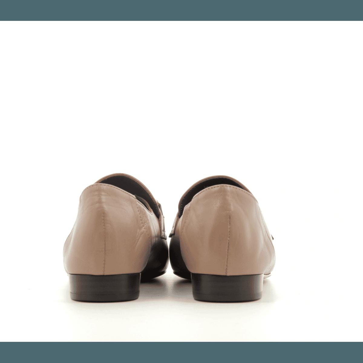 Mocassins en cuir nude DANY N2N - Avril Gau
