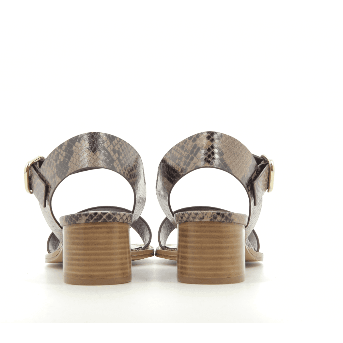 Sandales à talons estampillée python POOL - Avril Gau
