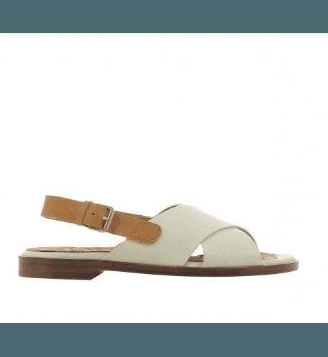Sandales plates en cuir blanc Chie Mihara - WAN1