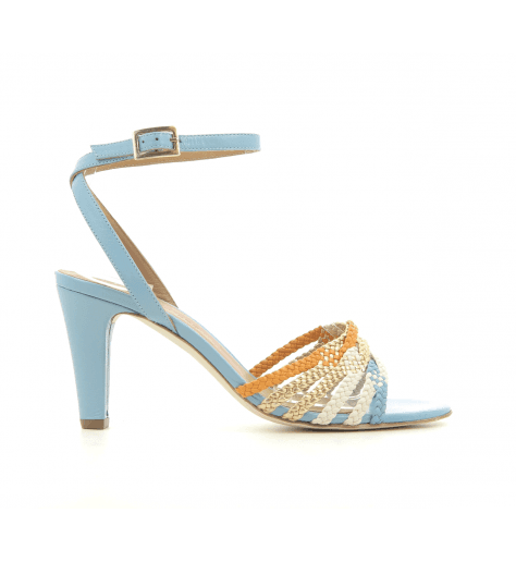 Sandales en cuir tressé multicolore New Lovers shoes - NEITH BLUE