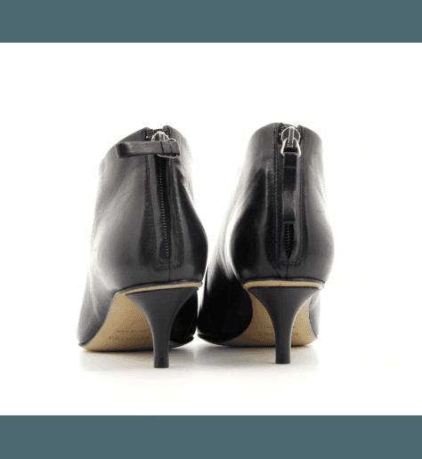 Bottines courtes pointues en cuir noir  Premiata - M5333