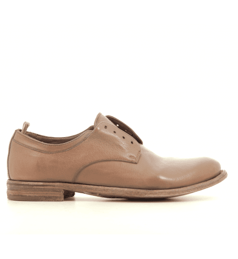 Derbies plats faux lacet en cuir rose  Officine Creative - LEXIKON 501