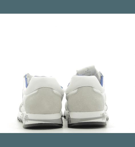 Baskets en cuir et textile blanc PREMIATA - LUCY-D 206E
