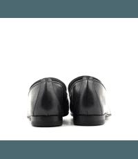 Mocassins plats en cuir noir Henderson Baracco - D036