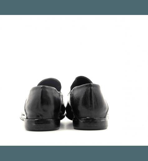 Mocassins en cuir noir patiné Lemargo - BD14AB