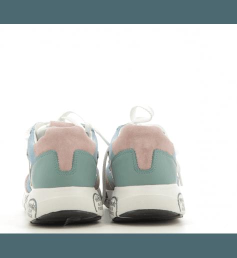 Baskets en textile et cuir bleu Premiata - ZAC ZACD 3733