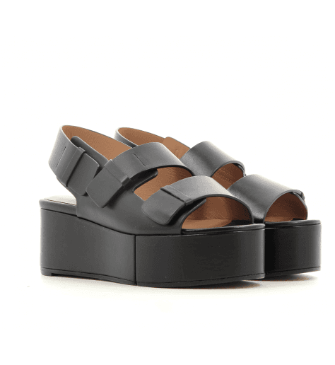 Sandales à semelle épaisse noir ARENA- Robert Clergerie