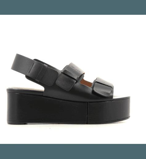 Sandales à semelle épaisse noir Robert Clergerie Paris- ARENA