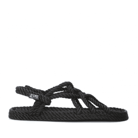 Sandales vegan en corde Nomadic State of Mind - JC SANDALS BLACK
