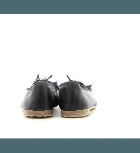 Ballerines  en cuir noir Meher Kakalia - BIZI BALLET FRINGE BLACK