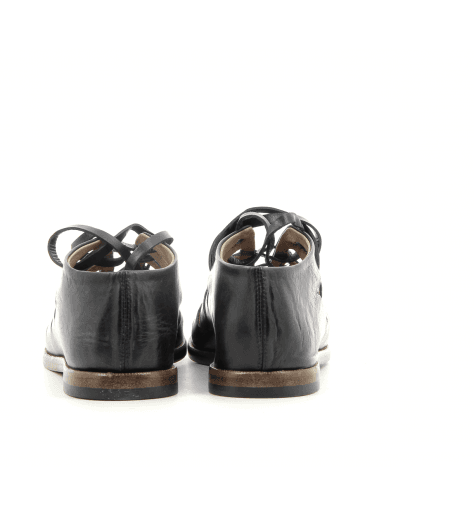 Sandales plates en cuir noir Alberto Fasciani - XENIA 45013
